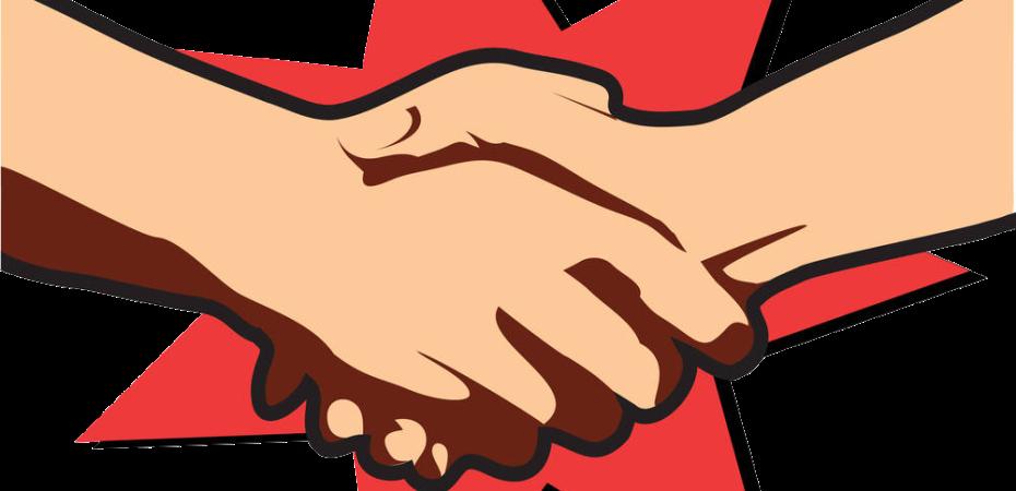 horny news handshake